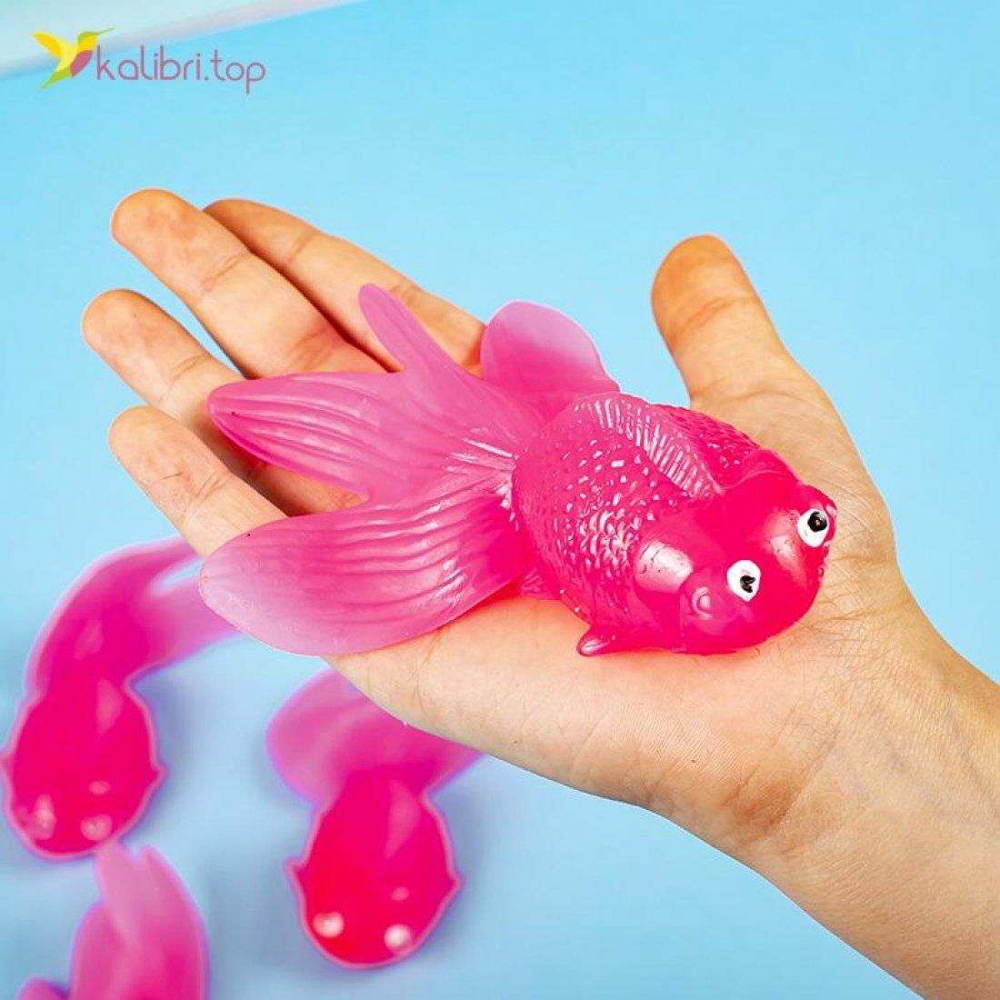 Силиконовые рыбки красные оптом фото 02