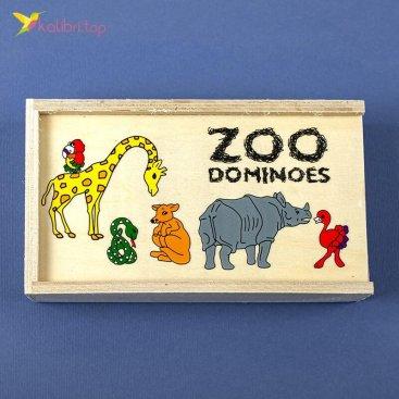 Детское домино Зоопарк оптом фото 01