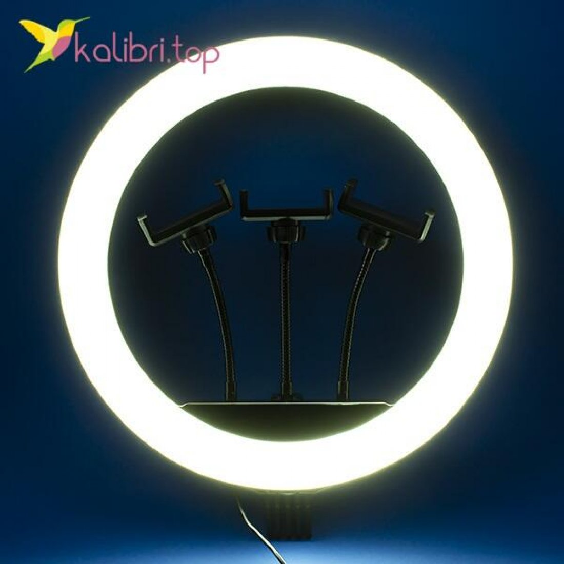 "Лампа для селфи кольцевая 14"", 35 см оптом фото 01"