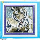 Алмазная мозаика по номерам Тигры 30*30 см оптом фото 022