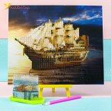 Алмазная мозаика по номерам Корабль 21*25 см оптом фото 04