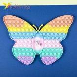 Игра pop it Butterfly Радужный оптом фото 01