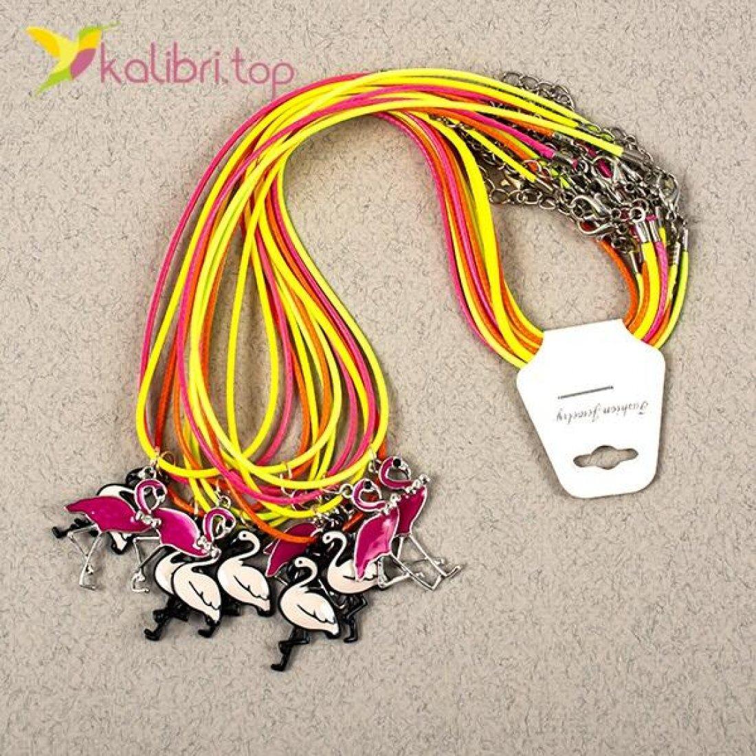 Кулоны на шею Фламинго оптом фото 02