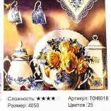 Алмазная живопись по номерам Сервиз 40*50 см оптом фото 0585