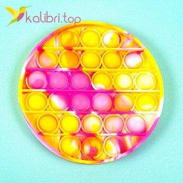 Антистресс Поп ит (pop-it) круг жёлтое оптом фото 01