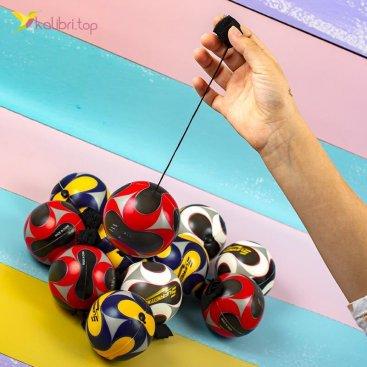 Мячики поролоновые Футбол на резинке 7,6 см оптом фото 1