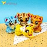 Игрушки сквиши Коты цветные оптом фото 01