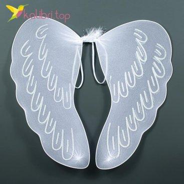 Купить крылья ангела с блёстками белые оптом фото 01