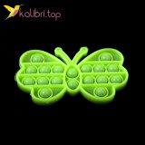 Купить Поп-ит (pop-it) флуоресцентный Бабочка салатовый оптом фото 02