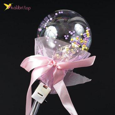 Светящиеся палочки Кругляшки розовый оптом фото 01