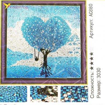 Алмазная мозаика по номерам Древо Любви 30*30 см оптом фото 001