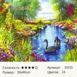 Рисования по номерам Лебеди 30*40 см оптом фото 1