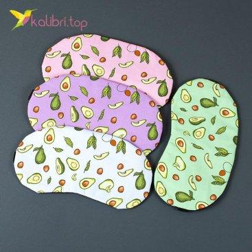 Маска для сна Авокадо цветное оптом фото 01