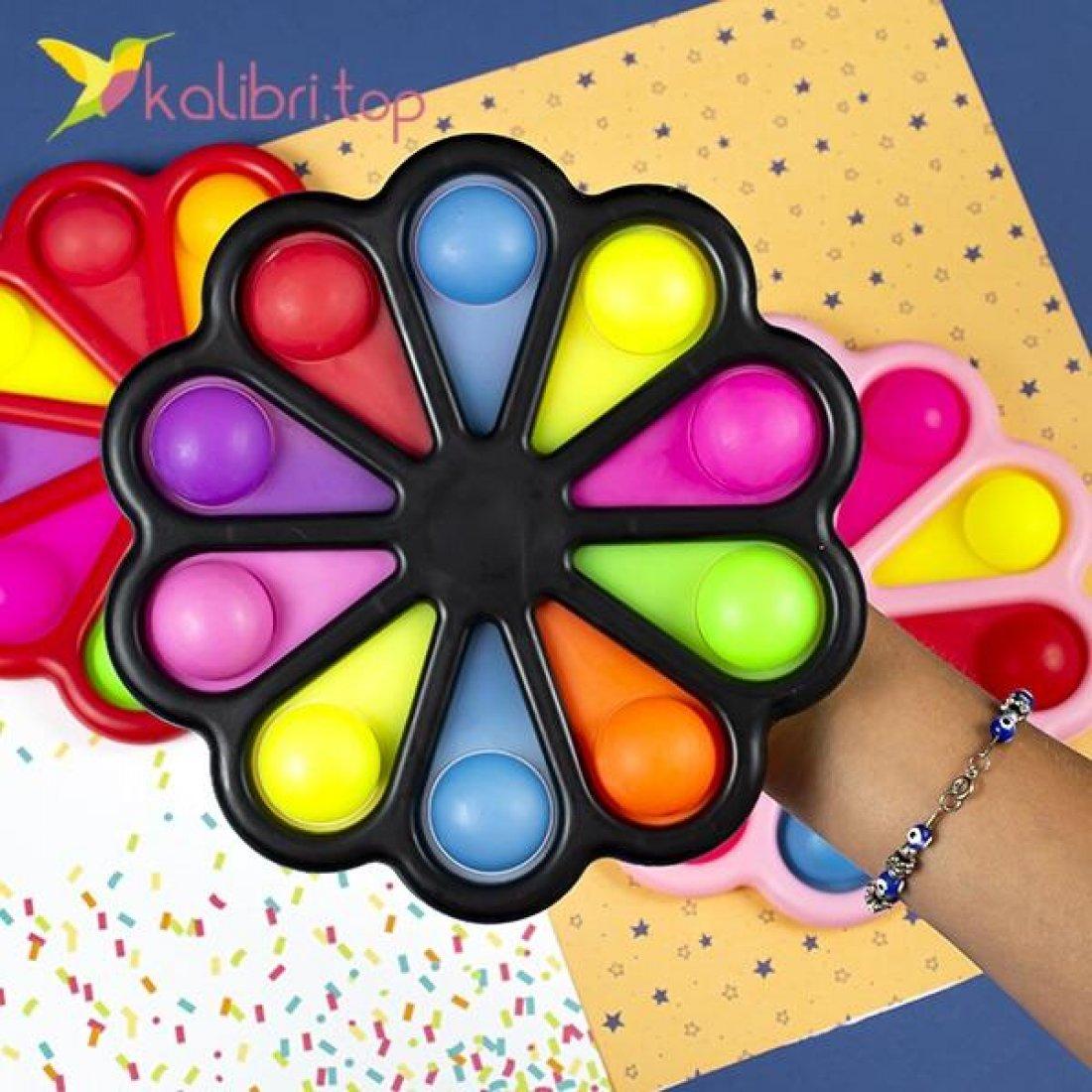 Симпл-димпл Ромашка XL на 10 кнопок оптом фото 01