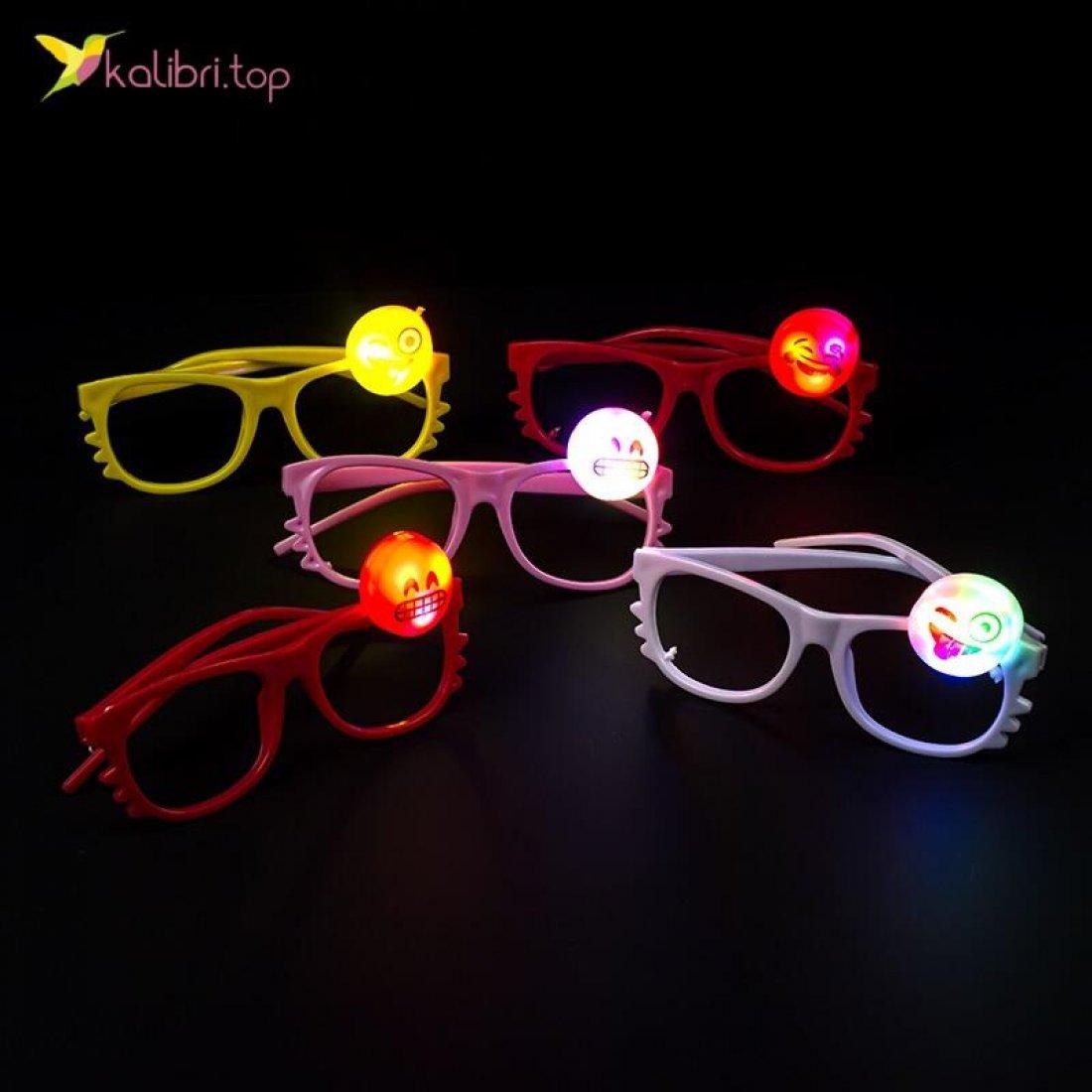 Светящиеся очки Смайлики оптом фото 01