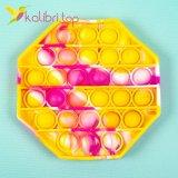 Пупырка Поп ит (pop-it) восьмиугольник жёлтый оптом фото 01