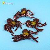 Силиконовые пауки коричнево-золотые оптом фото 01