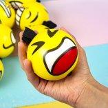 Поролоновые мячи Смайлы на резинке 7,6 см оптом фото 01