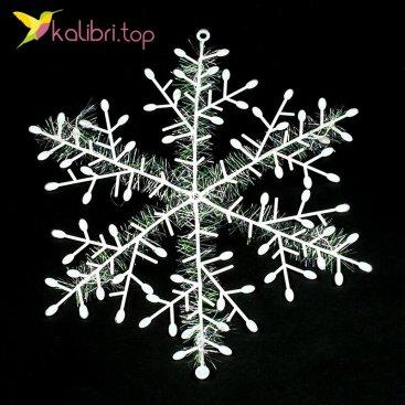Купить новогодняя снежинка 25 см оптом фото 09