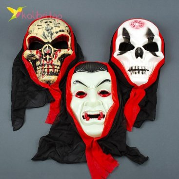 Маска на Хэллоуин череп оптом фото 02