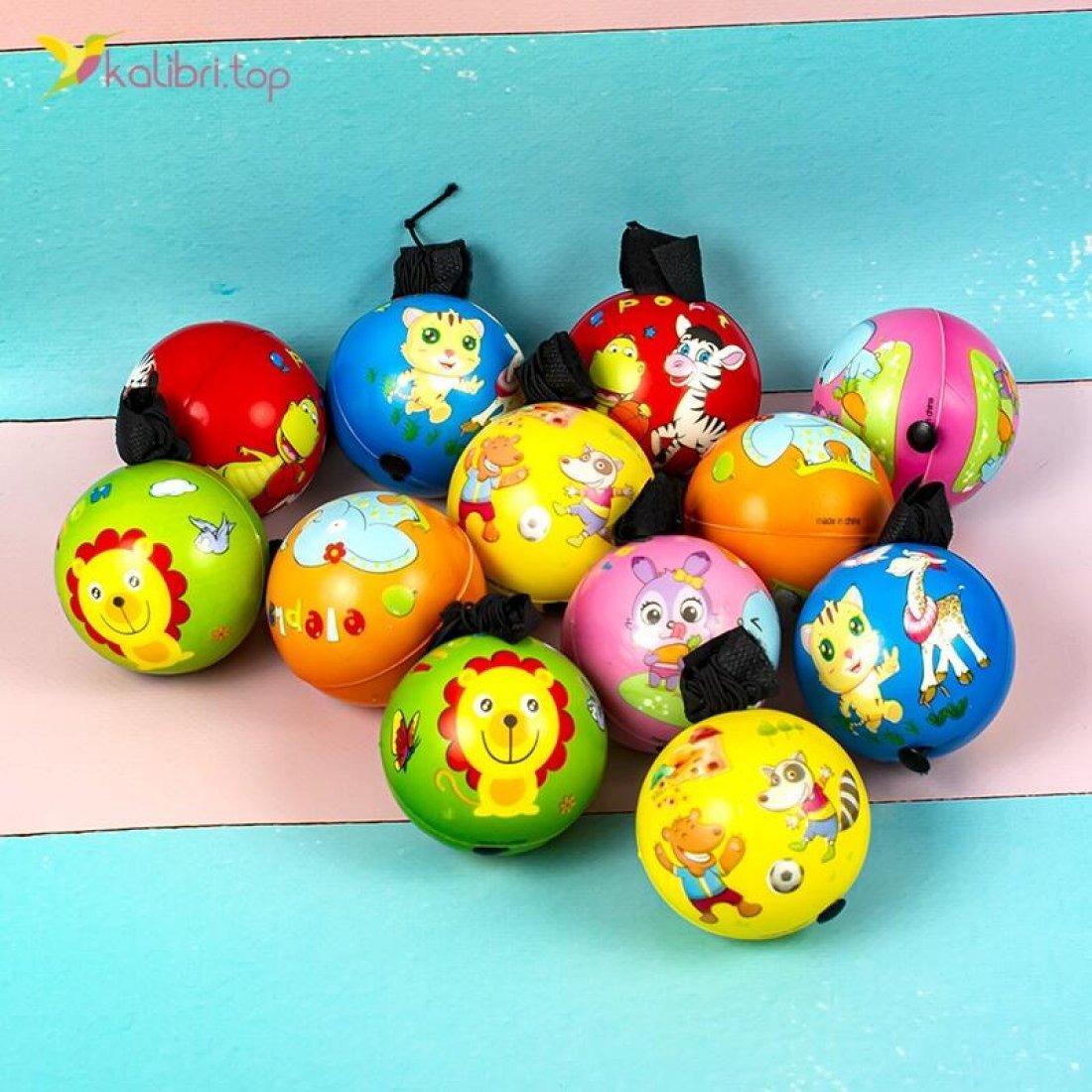 Мячики поролоновые на резинке Котики 6,3 см оптом фото 02