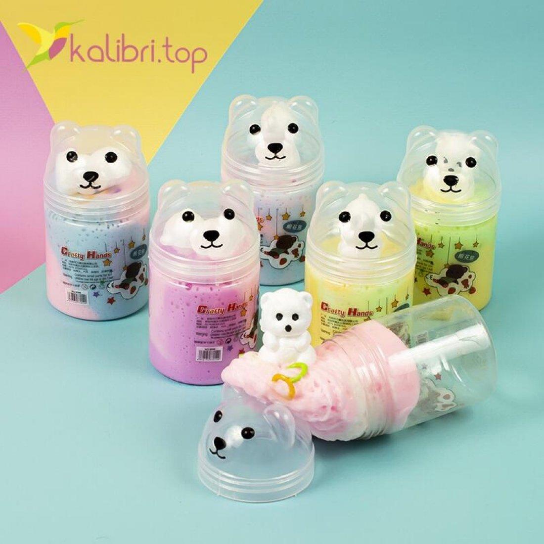Йогуртовый слайм с игрушкой оптом фото 01