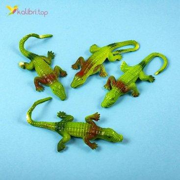 Силиконовые крокодилы зелёные оптом фото 01