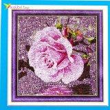 Алмазная мозаика по номерам Роза в камнях 30*30 см оптом фото 01