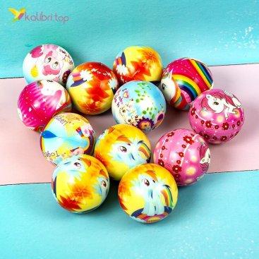 Поролоновые мячи Единороги 6,3 см оптом фото 01