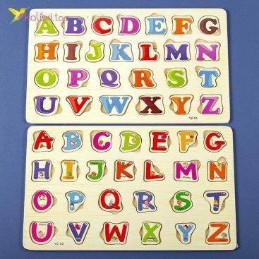 Купить деревянные пазлы рамка-вкладыш Алфавит оптом фото 33