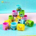 Радужные пружинки маленькие Трактора оптом фото 01