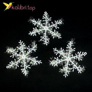 Купить Новогодние снежинки 11 см оптом фото 01