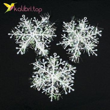 Купить новогодние снежинки 8 см оптом фото 01