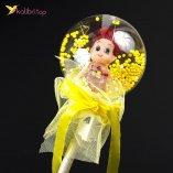 Светящиеся палочки куколки жёлтый оптом фото 01
