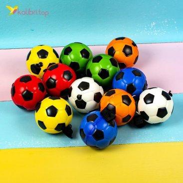 Мячи поролоновые Футбольные на резинке 7,6 см оптом фото 01