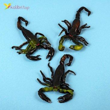 Силиконовые скорпионы чёрно-зелёные оптом фото 01