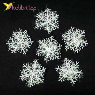 Купить Новогодние снежинки 6 см оптом фото 01