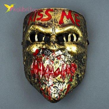 Маска карнавальная Поцелуй Kiss Me золото оптом фото 01