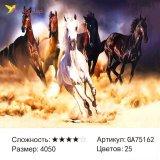Алмазная мозаика по номерам Кони 40*50 см оптом фото 6