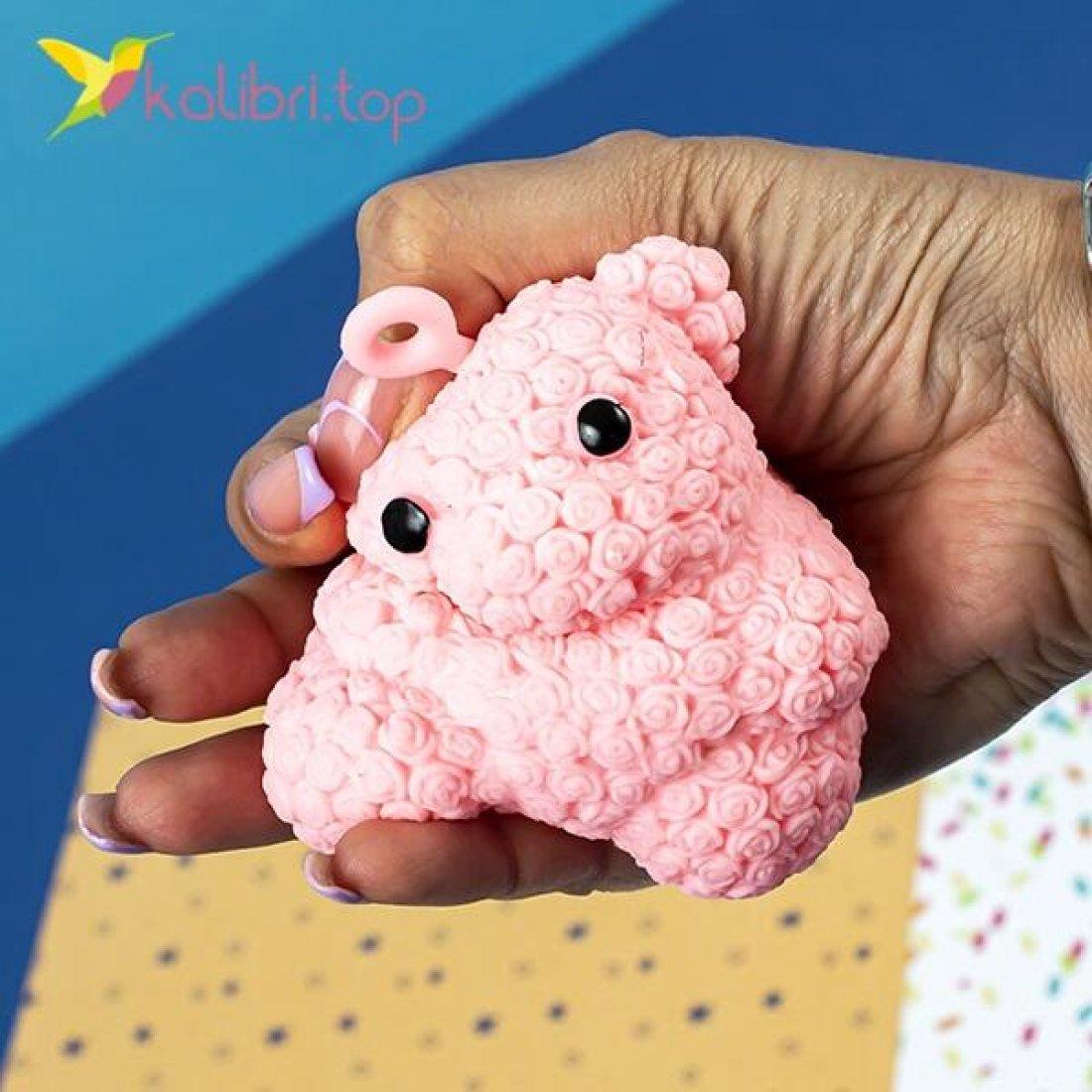 Мишки розочки ёжики силиконовые светящиеся оптом фото 02