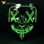 Светящиеся неоновая маска Судная ночь Judgment Night оптом фото 01