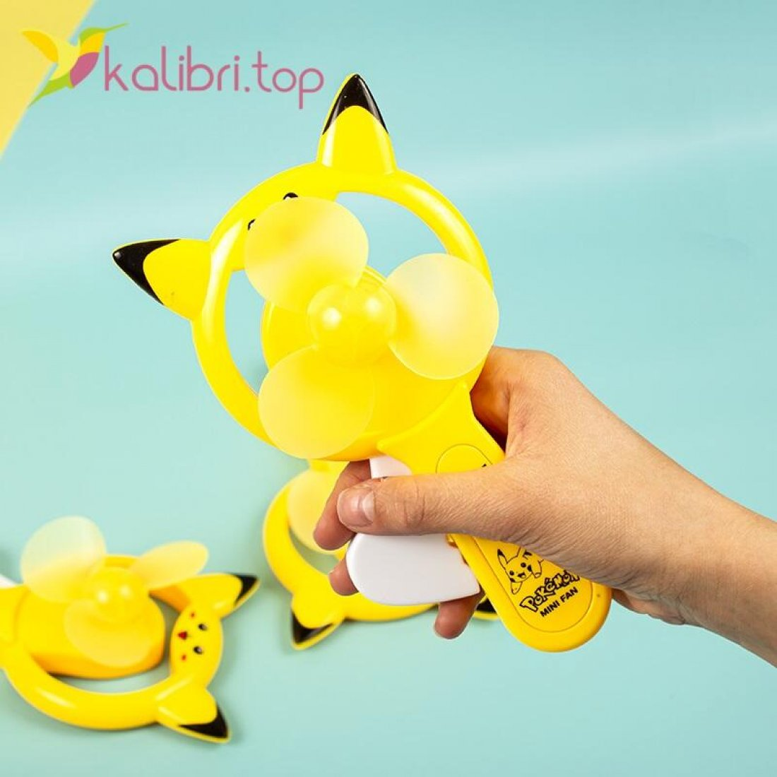 Купить Ручной детский вентилятор Пикачу оптом фото 02