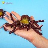 Силиконовые пауки коричнево-золотые оптом фото 02