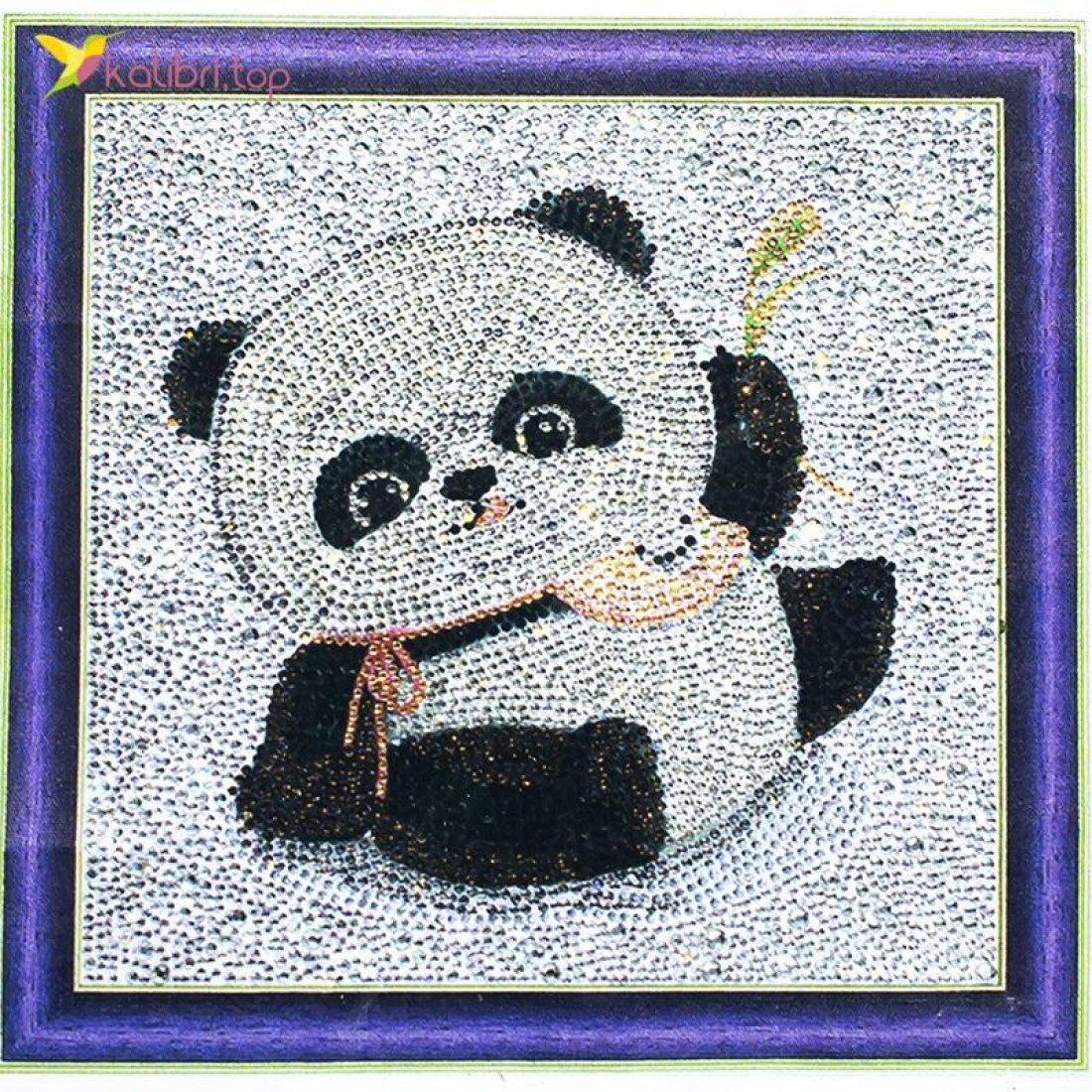 Алмазная мозаика по номерам Панда 30*30 см оптом фото 01
