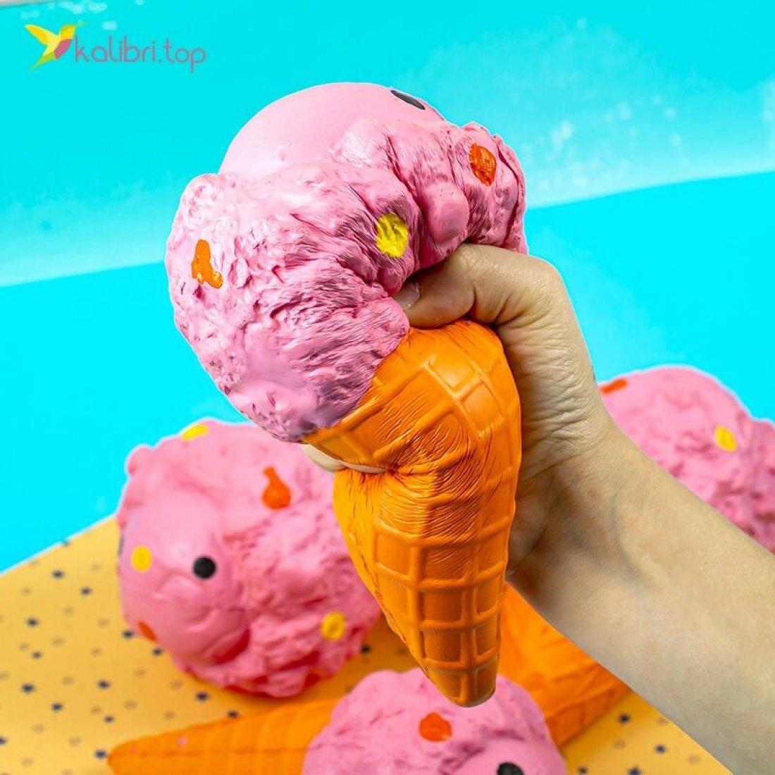 Заказать Сквиш Мороженое оранжевое оптом фото 03
