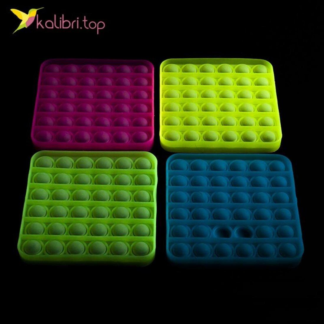 Попит (pop-it) флуоресцентный квадрат оптом фото 01