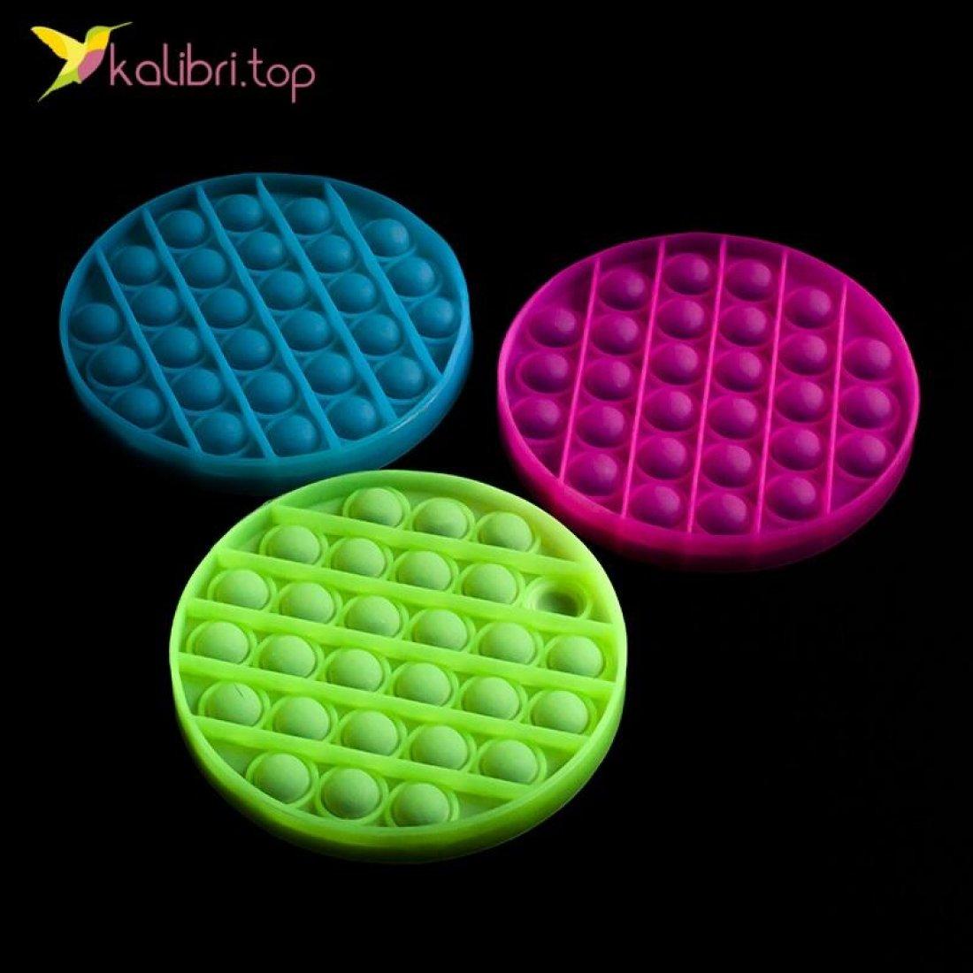 Попит (pop-it) флуоресцентный круг оптом фото 01
