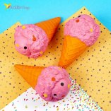 Сквиш Мороженое оранжевое оптом фото 01