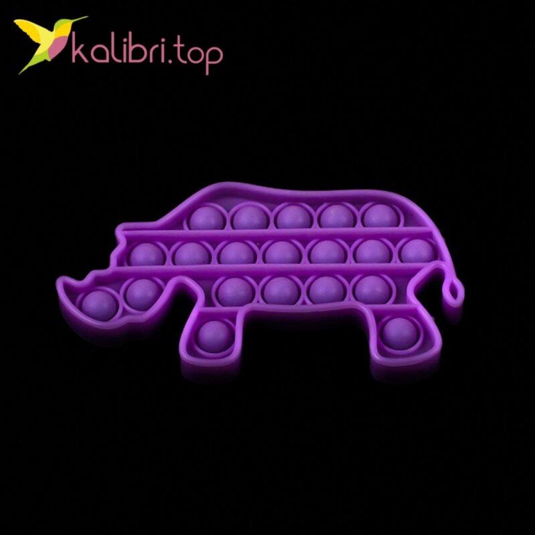 Купить Поп-ит (pop-it) флуоресцентный Носорог оптом фото 02