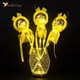Светящиеся палочки Пикачу жёлтые оптом фото 01